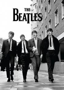 Poster THE BEATLES B,W A1