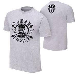 WWE WWF Baju Shirt (Roman Reign Empire Grey) Gusti