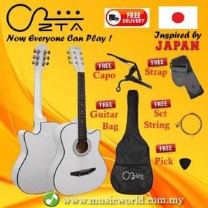 Zta 38 inch acoustic guitar white starter pack