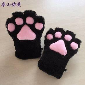 Cute Cat Bear Fox cosplay claw shaggy gloves