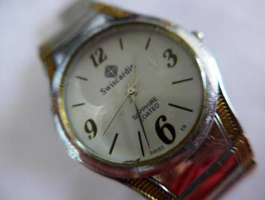 Swiscardin White Round Dial Watch