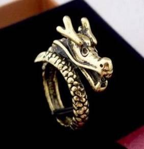 ABRB-D002 Bronze Ornament Dragon Finger Ring Sz7.5
