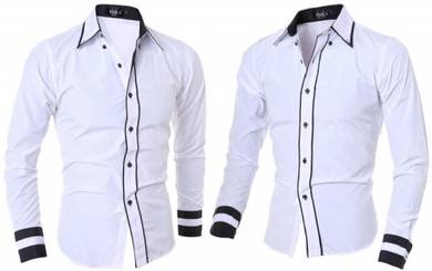 J6078 White Office Formal Office Long Sleeve Shirt