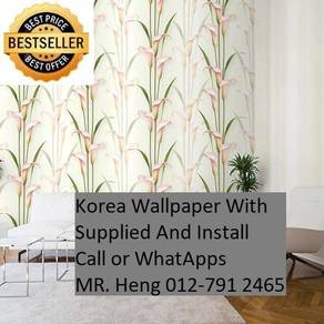 Pretty Wallcovering with Installation8ijhtr