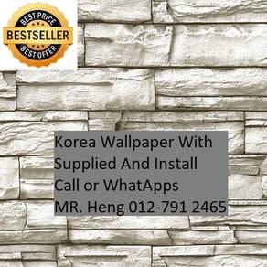 3D Korea Wall Paper with Installation gh584455