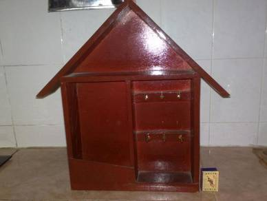 Tempat surat kunci wooden key letter holder