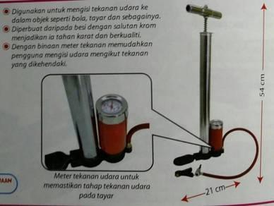 Bike/Ball Pump with Meter (Pressure Gauge)