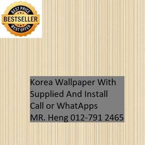 3D Korea Wall Paper with Installation 34h53rh