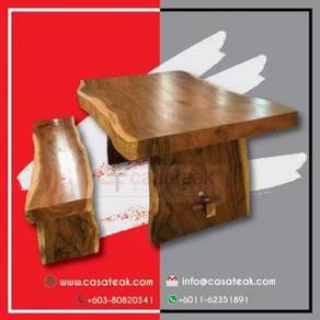Suar wood Table single wood slab tables casateak