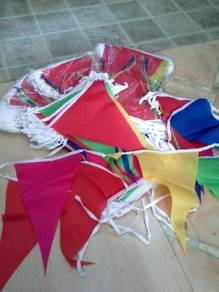 Bendera Karnival (Merah/Biru/Hijau/Kuning)