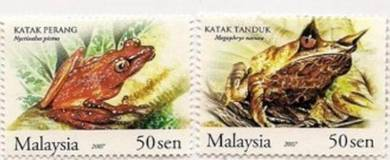 Mint Stamps 50c X 2 Frog Malaysia 2007