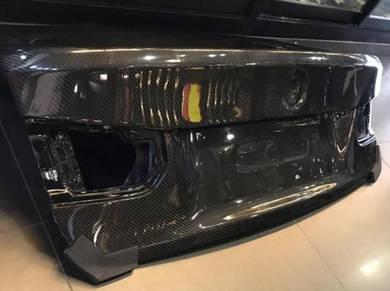 BMW F30 Carbon fiber trunk bonnet stock design M3