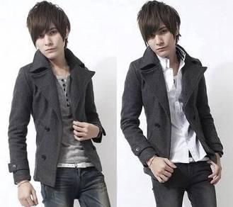 J0363 Winter Blazer Grey Woolen Coat Suit Jacket