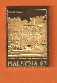 1 MALAYSIA pure SILVER Ingot .999 & GOLD Plated