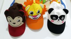 3D lion panda and monkey hat/cap