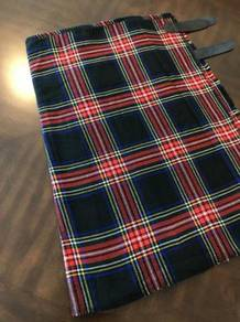 Kilt - Scottish Tartan Kilt (Black Stewart)