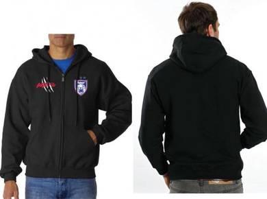 Sweater Pullover Zipper Hoody Hoodie JDT clr Black