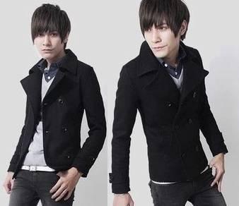 J0363 Winter Blazer Black Woolen Coat Suit Jacket