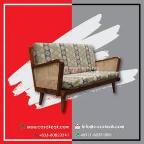 Teak Wood Rattan Sofa Kedai Parabot Jati- casateak