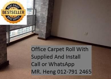 Modern Plain Design Carpet Roll With Install cz34