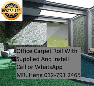 Natural Office Carpet Roll with install xf343