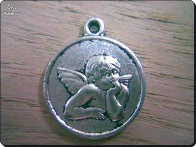 ABPSM-A003 Silver Metal Angel Pendant Necklace