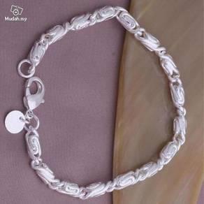 ABBS9-S014 Cool Silver 925 Bracelet Mens Fashion