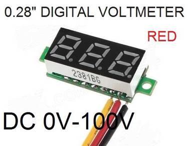 Digital LCD Voltmeter DC 0V~100V tester 0.28