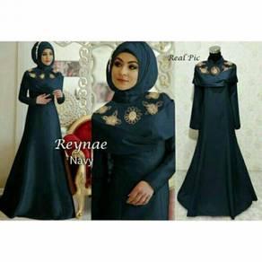 Reynae maxi mermaid long sleeve Muslimah dress