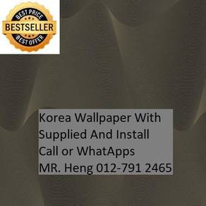 3D Korea Wall Paper with Installation 5e3h54h