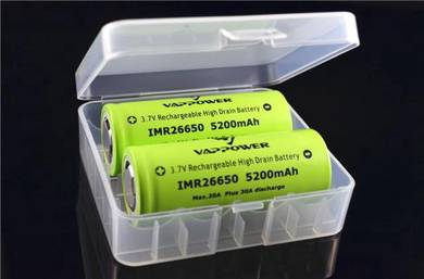 26650 2-bay Battery Box Storage Case Kotak Bateri