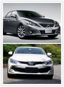 Toyota Mark X grx135 new face bumper pp material