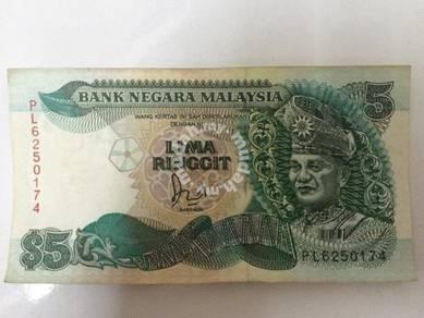 Duit Lama 5 Ringgit / Vintage Old Money RM5