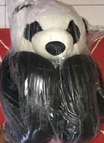 Teddy bear panda with baby
