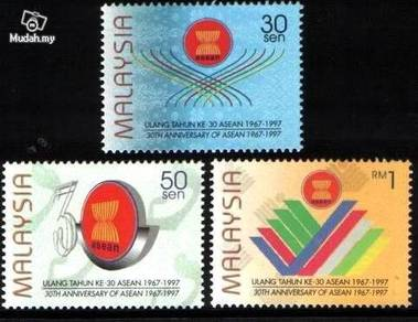Mint Stamp 30th Anniversary Asean Malaysia 1997