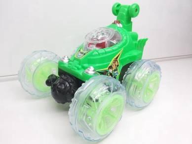 Green RC Ben 10 Stunt Car Kereta for kids=)/;.;