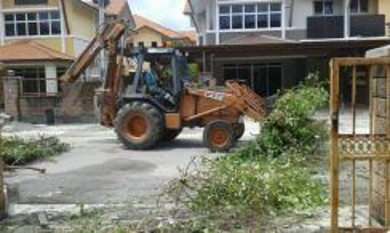 Bersih sisa Binaan