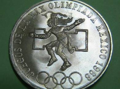 1968 Mexico Olympic Commemorative Silver 25 Pesos