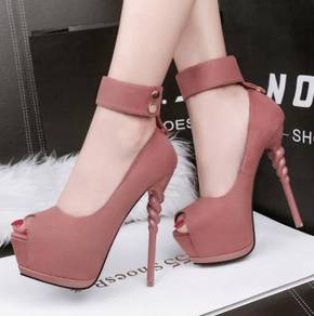 Unicorn party high heels 14cm grey pink RBH0259