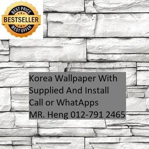 3D Korea Wall Paper with Installation e35h54h