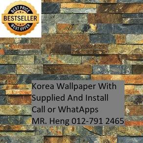 3D Korea Wall Paper with Installation 3h553