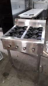 4 open burner with stand