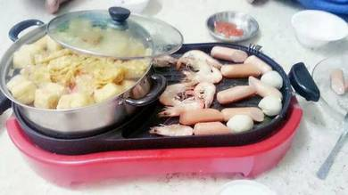 Bbq steamboat 2 in 1 new 766