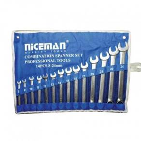 Combination Spanner Set - 14 Pcs