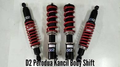 D2 adjustable hilow bodyshift kancil