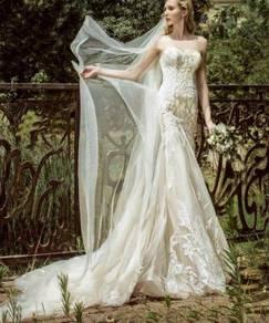 Cream mermaid wedding bridal gown dress RB1193