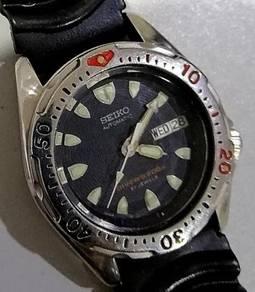 Jam Seiko Scuba Diver steel bezel 38mm 7s26 watch