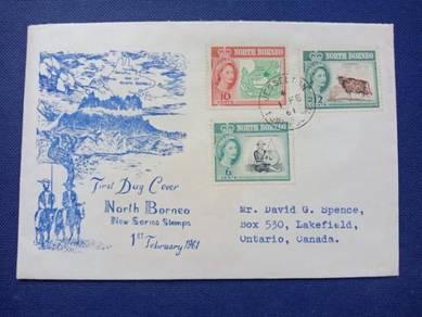 FDC North Borneo 1961 Z465