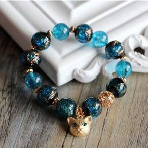 Turquoise cat BFF gift limited edition bracelet