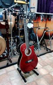 J.Y Red Electric Acoustic Guitar - E120CE